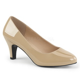 Beige Varnished 8 cm DIVINE-420W Pumps with low heels