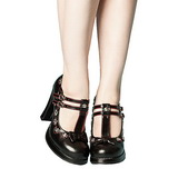 Black 10,5 cm CRYPTO-06 Mary Jane Pumps Shoes