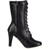 Black 10,5 cm TESLA-102 lace up womens ankle boots