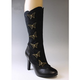 Black 10,5 cm TESLA-107 womens boots with high heels