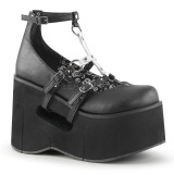 Black 11,5 cm KERA-09 lolita shoes gothic wedge platform shoes