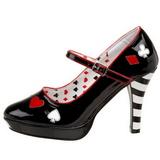 Black 11 cm CONTESSA-57 Womens Shoes with High Heels