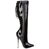 Black 16 cm DAGGER-2064 womens boots with high heels