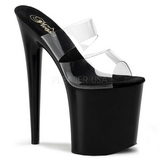 Black 20 cm Pleaser FLAMINGO-802 Platform High Heel Mules