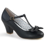 Black 6,5 cm retro vintage WIGGLE-50 Pinup Pumps Shoes with Cuben Heels
