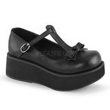 Black 6 cm SPRITE-03 lolita shoes gothic platform shoes