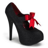 Black Glitter 14,5 cm Burlesque TEEZE-04G Womens Shoes with High Heels