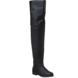 Black Leather 4 cm MAVERICK-8824 Thigh High Boots for Men