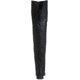 Black Leather 4 cm MAVERICK-8824 Thigh High Boots for Men