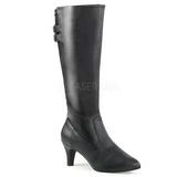 Black Leatherette 7,5 cm DIVINE-2018 big size boots womens