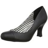 Black Leatherette 7,5 cm JENNA-01 big size pumps shoes