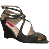 Black Leatherette 7,5 cm KIMBERLY-04 big size sandals womens