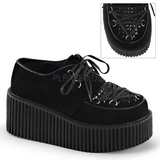 Black Leatherette CREEPER-216 Platform Women Creepers Shoes