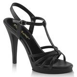 Black Matte 12 cm FLAIR-420 High Heels for Men