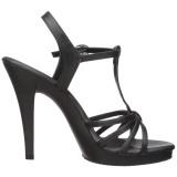 Black Matte 12 cm FLAIR-420 Womens High Heel Sandals
