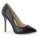 Black Matte 13 cm AMUSE-20 pointed toe stiletto pumps
