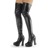 Black Matte 13 cm ELECTRA-3000Z Thigh High Boots for Men