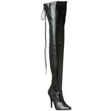 Black Matte 13 cm SEDUCE-3063 overknee high heel boots