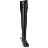 Black Matte 15,5 cm DELIGHT-3017 Platform Thigh High Boots