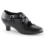 Black Matte 5 cm DAME-02 Women Pumps Shoes Flat Heels