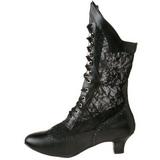 Black Matte 5 cm FUNTASMA DAME-115 Retro Ankle Calf Boots