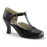 Black Matte 7,5 cm FLAPPER-26 Women Pumps Shoes Flat Heels