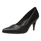 Black Matte 7,5 cm PUMP-420 Low Heeled Classic Pumps Shoes