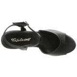 Black Matte 8 cm BELLE-309 Womens High Heel Sandals