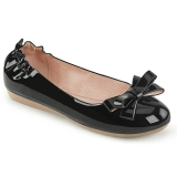 Black OLIVE-03 ballerinas flat womens shoes with bow tie