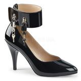 Black Patent 10 cm DREAM-432 big size pumps shoes