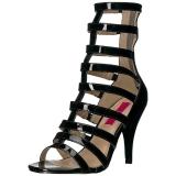 Black Patent 10 cm DREAM-438 big size ankle boots womens
