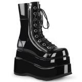 Black Patent 11,5 cm BEAR-265 demonia ankle boots platform