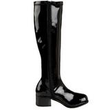 Black Patent 5 cm RETRO-300 High Heeled Women Boots