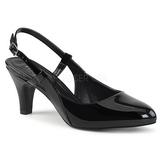 Black Patent 7,5 cm DIVINE-418 big size pumps shoes