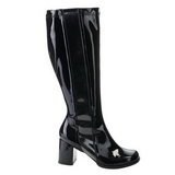 Black Patent 7,5 cm Funtasma GOGO-303 Women Knee Boots