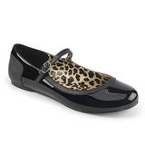Black Patent ANNA-02 big size ballerinas shoes