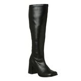 Black Pu 7,5 cm Funtasma GOGO-300 Women Knee Boots
