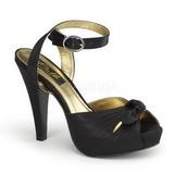 Black Satin 12 cm PINUP COUTURE BETTIE-04 High Heels Platform