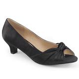 Black Satin 5 cm FAB-422 big size pumps shoes