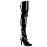Black Shiny 10,5 cm VANITY-3010 Thigh High Boots for Men