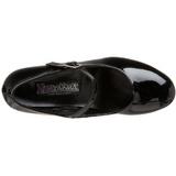 Black Shiny 5 cm SCHOOLGIRL-50 Low Heeled Classic Pumps Shoes