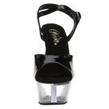 Black Transparent 15 cm Pleaser KISS-209 High Heels Platform