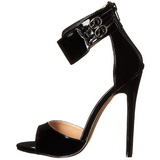 Black Varnish 13 cm SEXY-19 High Heeled Evening Sandals