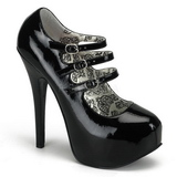 Black Varnish 14,5 cm Burlesque TEEZE-05 Womens Shoes with High Heels