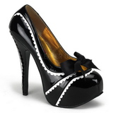 Black Varnish 14,5 cm Burlesque TEEZE-14 Womens Shoes with High Heels