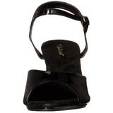 Black Varnish 8 cm BELLE-309 Womens High Heel Sandals