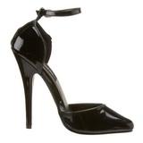 Black Varnished 15 cm DOMINA-402 Pumps with low heels