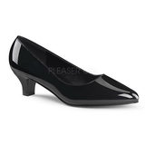 Black Varnished 5 cm FAB-420W Pumps with low heels