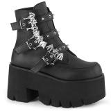 Black Vegan 9 cm ASHES-55 demonia ankle boots platform