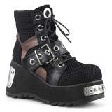 Black Vegan 9 cm SCENE-53 lolita ankle boots platform